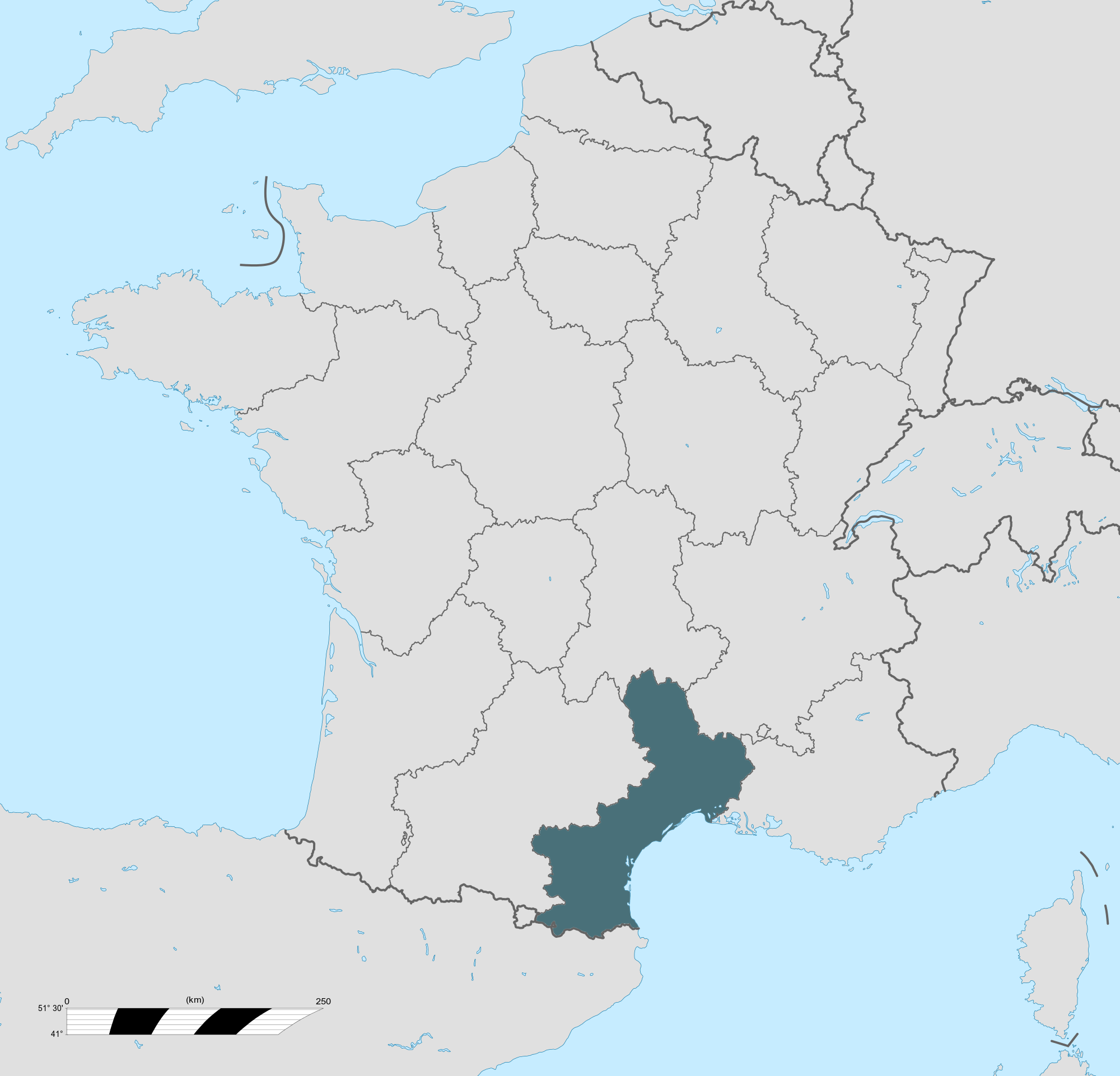 Carte grise Languedoc-Roussillon